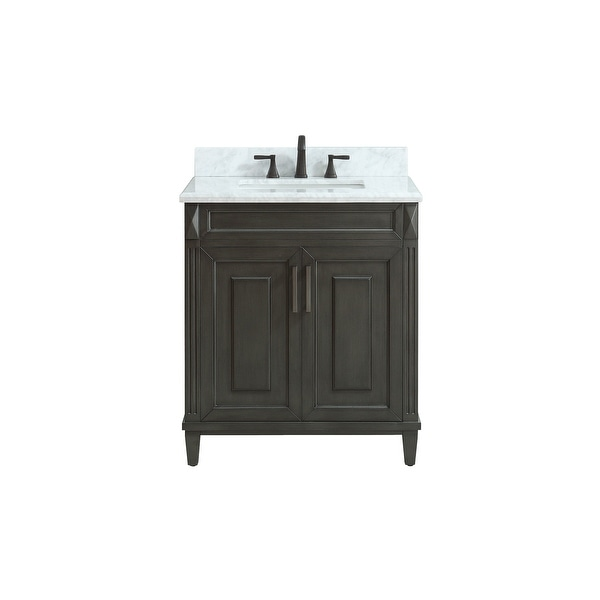 Shop Azzuri Sterling Vs30 Sterling 30 Vanity Set With Wood Cabinet
