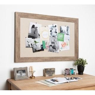 DesignOvation Beatrice Decorative Framed Linen Pinboard