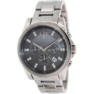Armani Exchange Men's AX2092 Silver Stainless-Steel Quartz Fashion Watch
