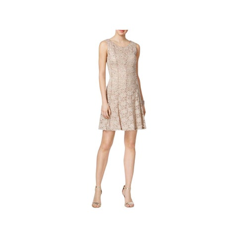 Connected Apparel Womens Party Dress Lace Mini