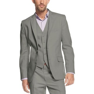 INC International Concepts Steel Grey Linen Blend Sportcoat Medium