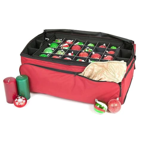Santa's Bags Three Tray Ornament Storage Bag w/Side Pockets