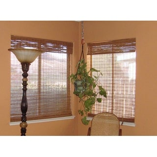 Arlo Blinds Tuscan Bamboo Roman Shade with 74 Inch Height