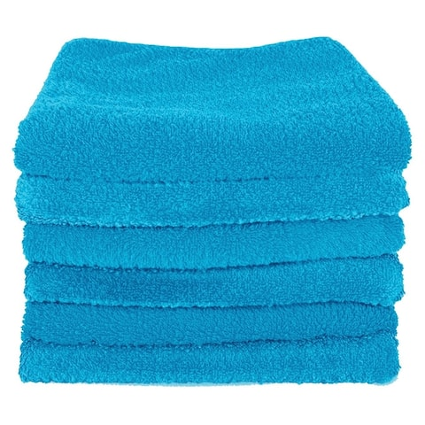 """Unger 966940 Microfiber Multipurpose Cleaning Cloths, 16"""" x 16"""", 6-Pack"""
