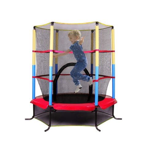 """Outdoor Play Kids Toys 5"""" Round Trampoline 1.4 M High Foot"""