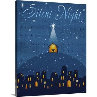 """Silent Night"" Canvas Wall Art"