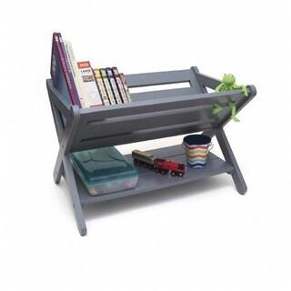 Lipper International 522G Kids Book Caddy with Shelf, Grey