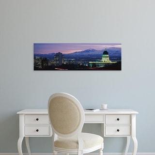 Easy Art Prints Panoramic Images's 'Salt Lake City UT' Premium Canvas Art