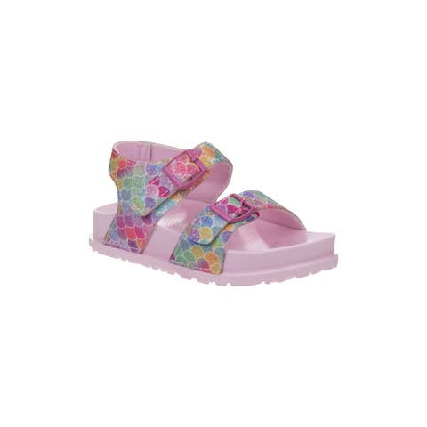 Laura Ashley Multi Colors Mermaid Buckles Sandals Little Girls