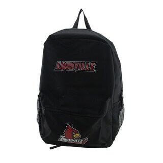 Officially Licensed NCAA University of Louisville Cardinals Black Backpack