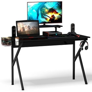 Link to Gymax Gaming Desk Computer Desk PC Table Workstation with Cup Holder & Similar Items in Desks & Computer Tables