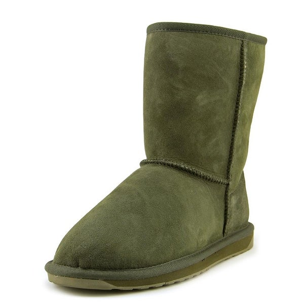 Emu Australia Stinger Lo Women Round Toe Suede Green Winter Boot