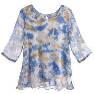 Women's Tunic Top - Soft Clouds Chiffon Blouse