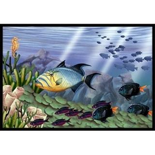 Carolines Treasures PTW2035MAT Undersea Fantasy 10 Indoor & Outdoor Mat 18 x 27 in.