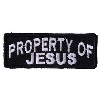 PROPERTY OF JESUS Embroidered Iron On Biker Vest Patch P92