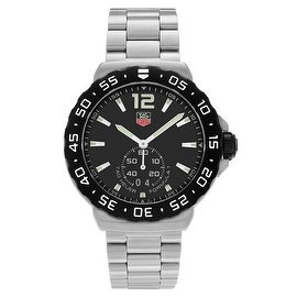 Tag Heuer Men's 'Formula 1' WAU1110.BA0858 Stainless Steel Black Dial Bracelet Watch