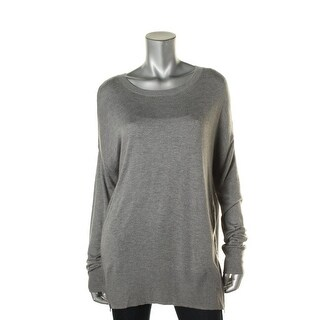 Aqua Womens Cashmere Blend Side Zippers Pullover Sweater