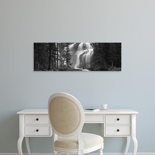 Easy Art Prints Panoramic Images's 'Waterfall in a forest, Banff, Alberta, Canada' Premium Canvas Art
