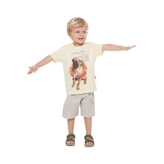 Toddler Boy Short Sleeve Shirt Little Boy Graphic Tee Pulla Bulla 1-3 Years