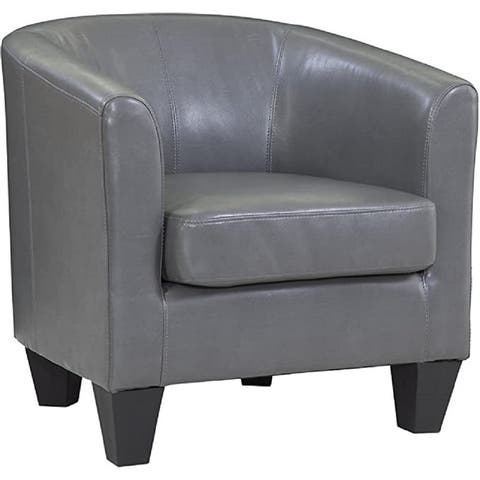 Grafton Home Charcoal Faux Leather Tub Chair