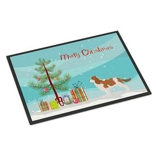 Carolines Treasures BB2967JMAT Cavalier King Charles Spaniel Merry Christmas Tree Indoor or Outdoor Mat 24 x 36