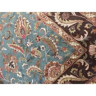Safavieh Handmade Heritage Timeless Traditional Blue/ Brown Wool Rug (9'6 x 13'6)