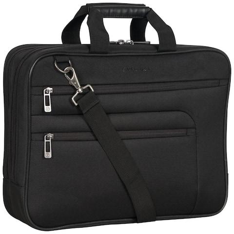 Heritage Dual Compartment 17 Laptop & Tablet Shoulder Bag / Business Computer Portfolio