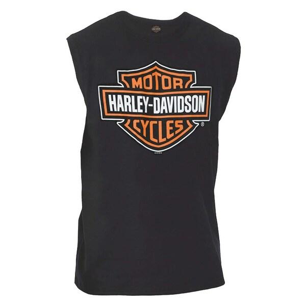 Harley-Davidson Men's Classic Bar & Shield Logo Sleeveless Muscle Tee, Black