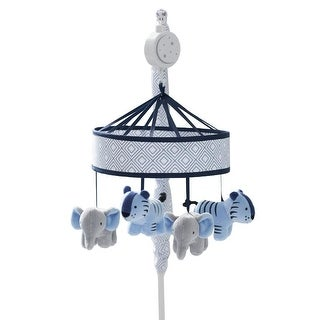 Just Born Dream Musical Mobile, Gray/Navy - blue tiger, elephant - One Size