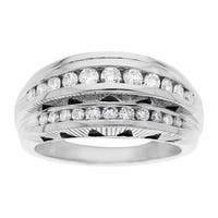 Manhattan Collection: 3/4 ct Diamond Chrysler Building Ring in 14K White Gold - Size 7