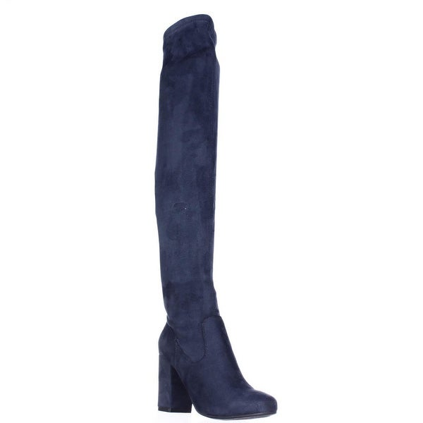 Carlos by Carlos Santana Rumer Over the Knee Slouch Boots, Navy