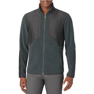 Calvin Klein CK Full Zip Polar Fleece Jacket Medium M Dark Kale Green