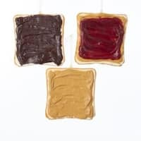 """Club Pack of 24 Vibrantly Colored Foam Sliced Toast Decorative Ornaments 4.5"""" - brown"""