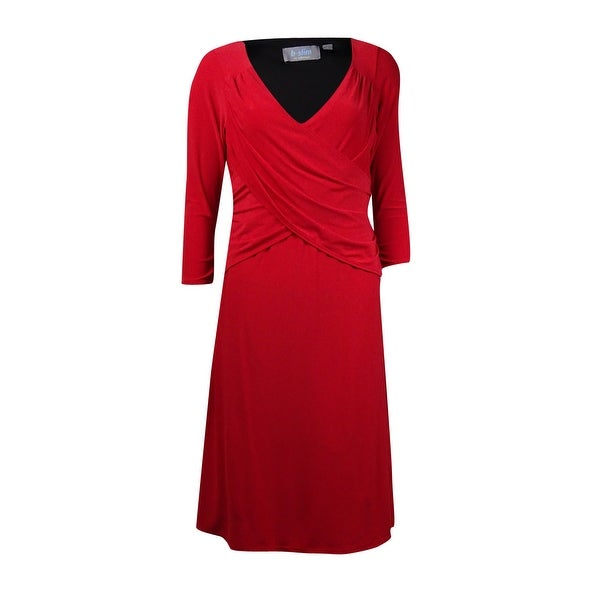B-Slim Women's Ruched Pleated Top Jersey Dress