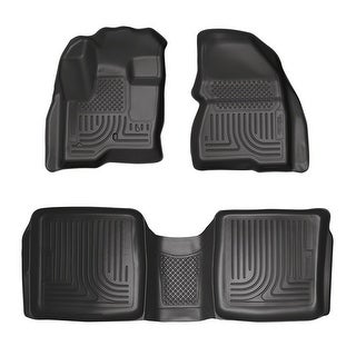 Husky Weatherbeater 2009-2015 Ford Flex, 2010-2014 Lincoln MKT Black Front & Rear Floor Mats/Liners