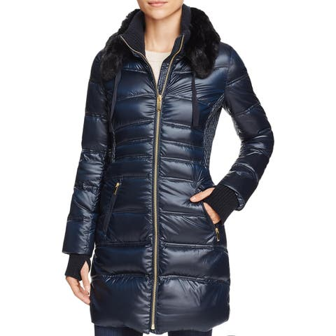 Via Spiga Womens Parka Coat Winter Water Resistant