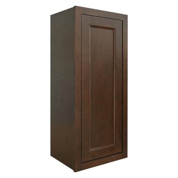"Sunny Wood HBW1536-A Healdsburg 15"" x 36"" Single Door Wall Cabinet - Rich Walnut"