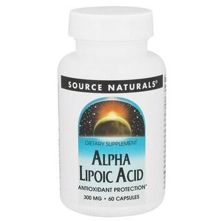 SOURCE NATURALS - Alpha Lipoic Acid 300 mg 60 Capsule 60 CAPSULE