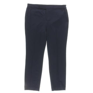 Lauren Ralph Lauren Womens Trouser Pants Cropped Faux Pocket