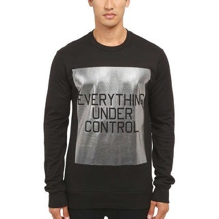 Y-3 Yohji Yamamoto Everything Under Control Print Crewneck Sweater Large Black