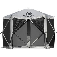 Mcombo 6-Sided Gazebo Portable Pop Up Tent Canopy Deals