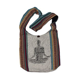 Striped Yoga Body Cotton Tapestry Cross Body Bag