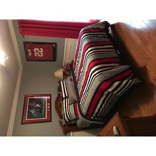 IZOD Varsity Stripe 4-Piece Comforter Set in Red, White, and Blue Stripes