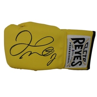 Floyd Mayweather Jr Cleto Reyes Yellow Left Hand Boxing Glove BAS