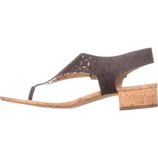 MICHAEL Michael Kors Womens London thong Leather Open Toe Casual T-Strap Sand...