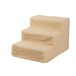 Link to Soft Portable Cat Dog 3 Steps Ramp Small Climb Pet Step Stairs Beige - 17.7 Similar Items in Dog Beds & Blankets