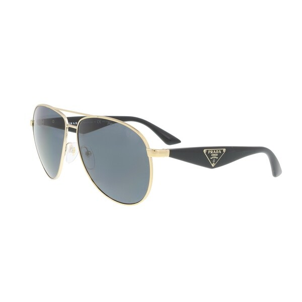 650f83df3b ... get prada pr 53qs zvn5z1 3p gold black round sunglasses 60 13 140 48554  fceb2