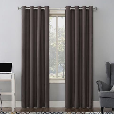 Sun Zero Duran Thermal Insulated Total Blackout Grommet Curtain Panel, Single Panel