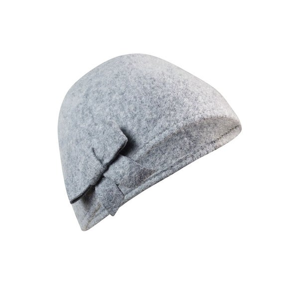 August Accessories Women's Wool Blend Applique Skully Hat - os