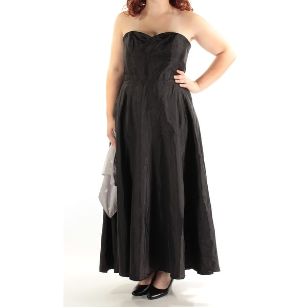 e8e781a634 Womens Black Sleeveless Maxi Empire Waist Formal Dress Size: 16